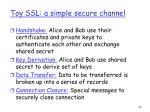 toy ssl a simple secure channel