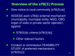 overview of the s78 3 process