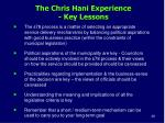 the chris hani experience key lessons