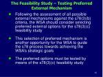the feasibility study testing preferred external mechanism