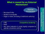 what is meant by an external mechanism2
