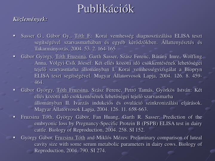 Publikációk