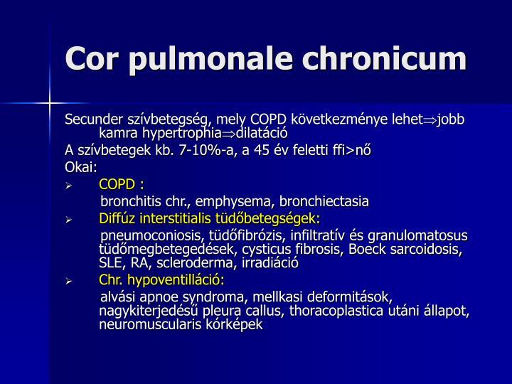 Cor pulmonale chronicum