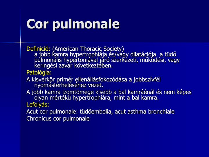 Cor pulmonale1