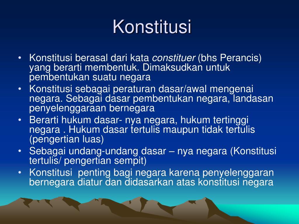 Ppt Negara Dan Konstitusi Powerpoint Presentation Free Download Id 4441610