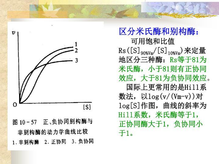 区分米氏酶和别构酶:
