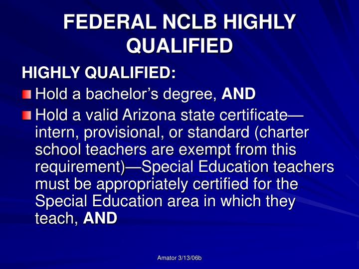 PPT - STATE CERTIFICATION NCLB HIGHLY QUALIFIED PowerPoint ...