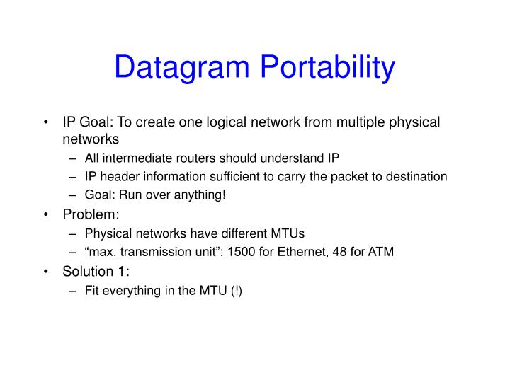 Datagram Portability