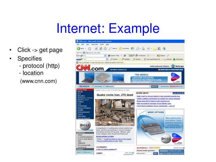 Internet example