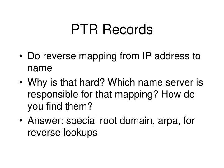 PTR Records
