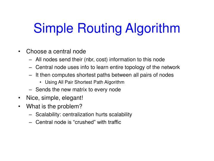 Simple Routing Algorithm