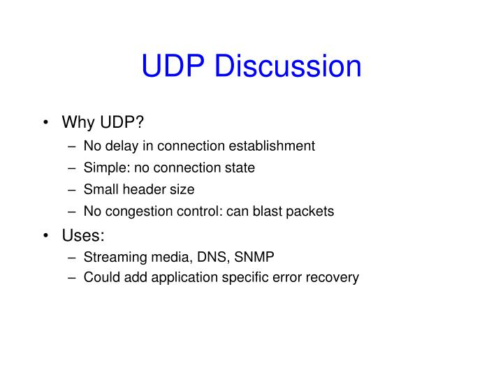 UDP Discussion