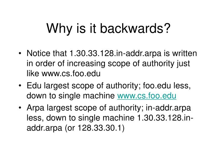 Why is it backwards?