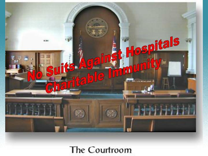 No Suits Against Hospitals