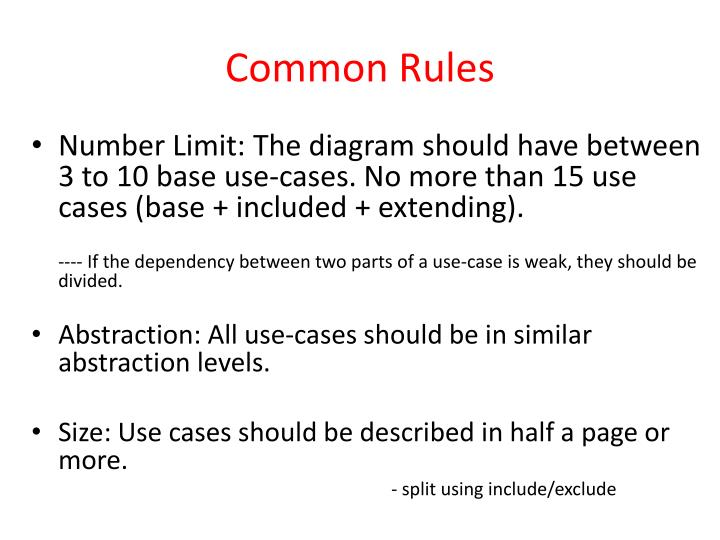 Common Rules