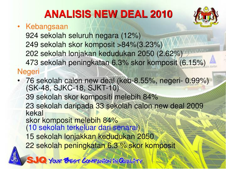 ANALISIS NEW DEAL 2010