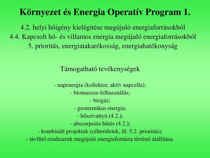 Környezet és Energia Operatív Program 1.