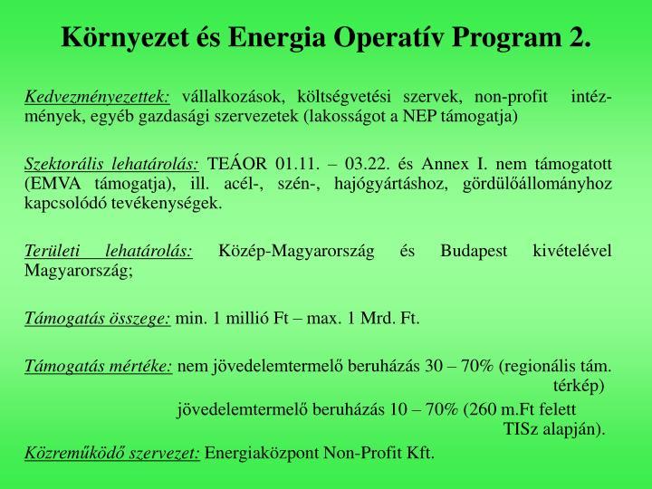 Környezet és Energia Operatív Program 2.