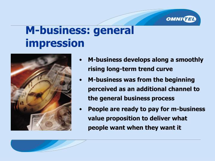 M-business: general impression