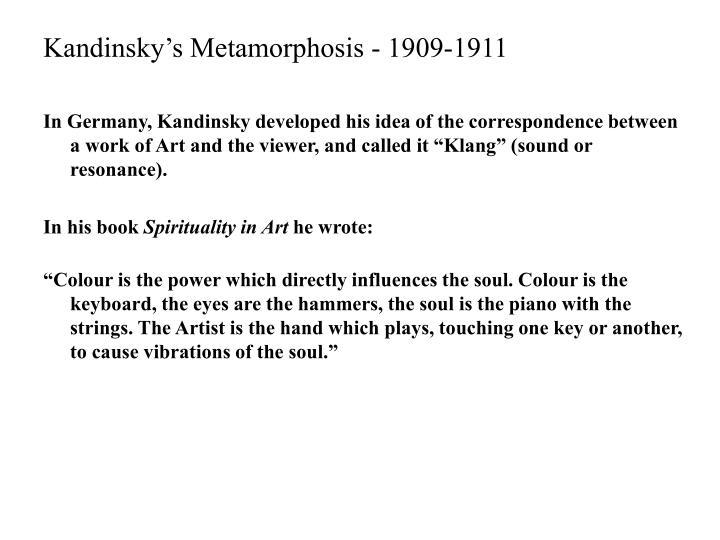 Kandinsky's Metamorphosis - 1909-1911