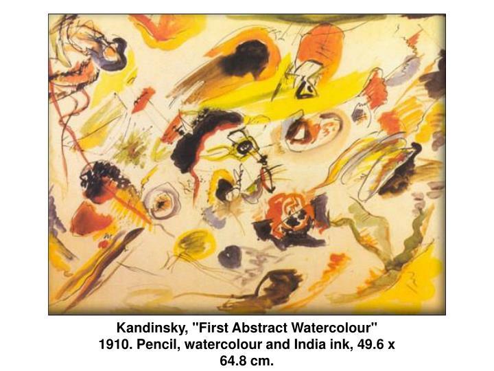 """Kandinsky, """"First Abstract Watercolour"""""""