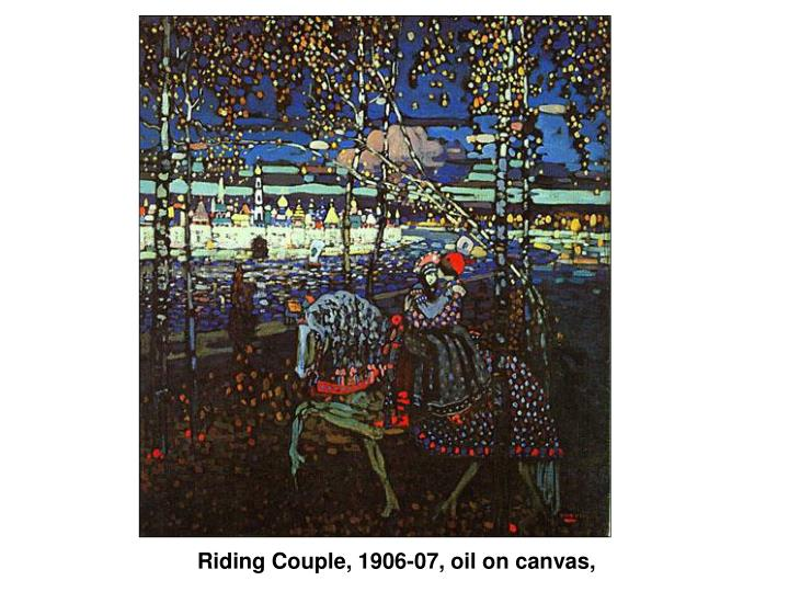 Riding Couple, 1906-07, oil on canvas,