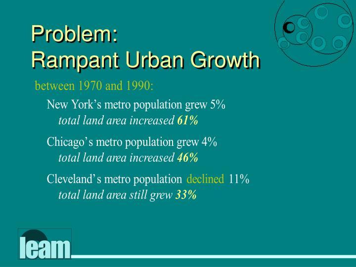Problem rampant urban growth