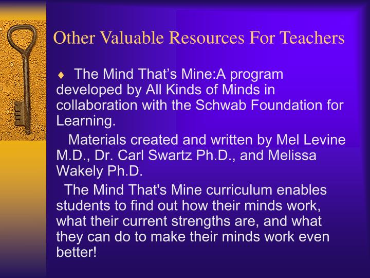 Other Valuable Resources For Teachers