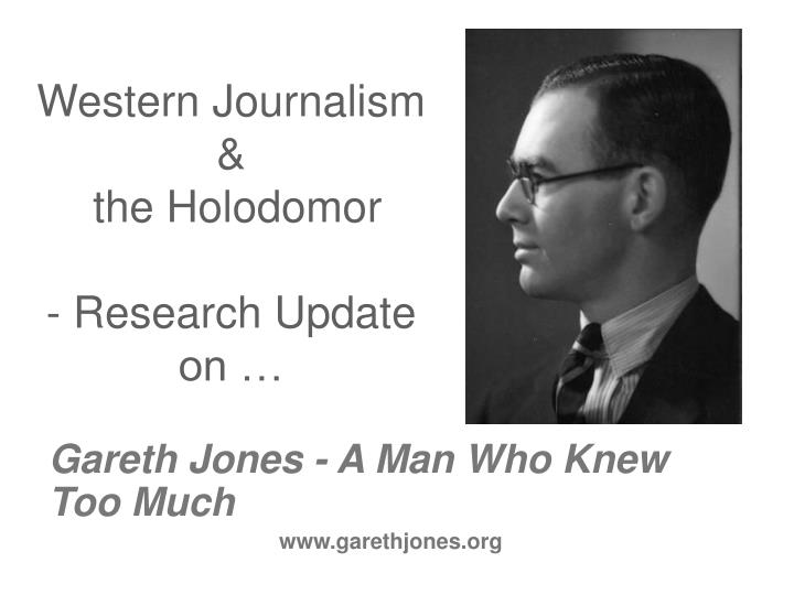 western journalism the holodomor research update on n.