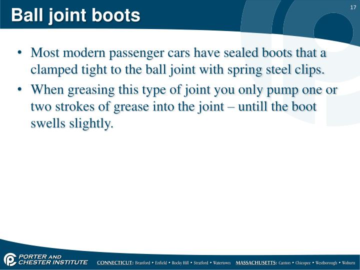 Ball joint boots