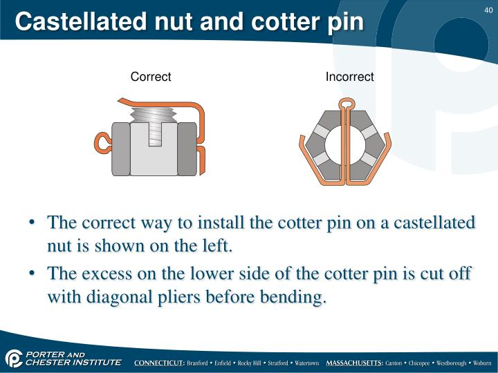 Castellated nut and cotter pin
