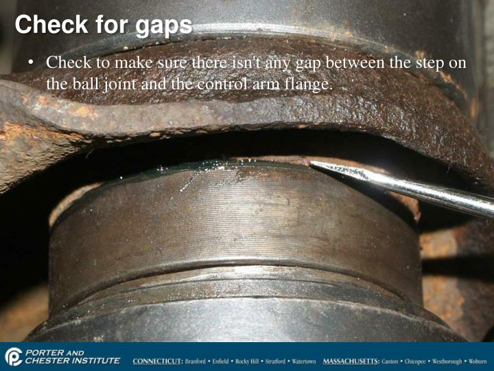 Check for gaps