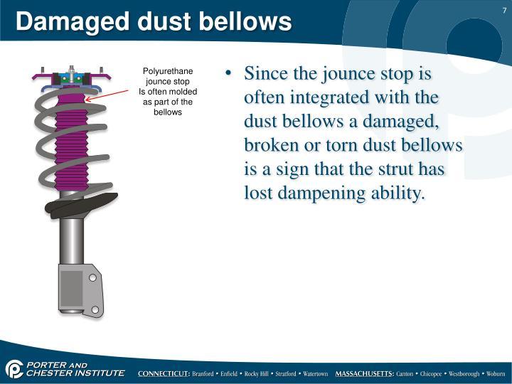 Damaged dust bellows
