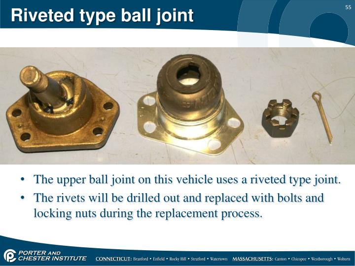 Riveted type ball joint