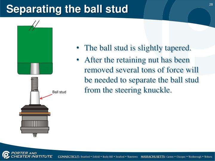 Separating the ball stud