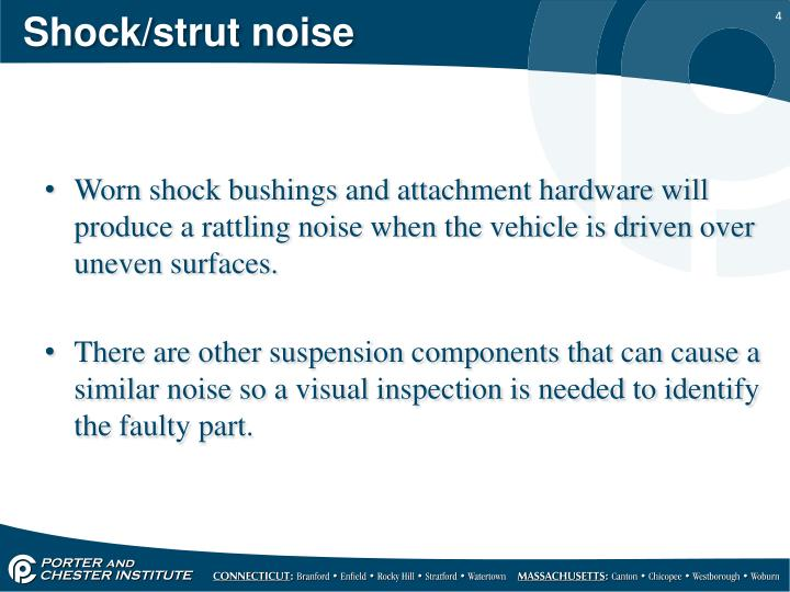 Shock/strut noise