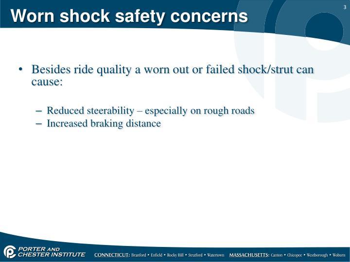 Worn shock safety concerns
