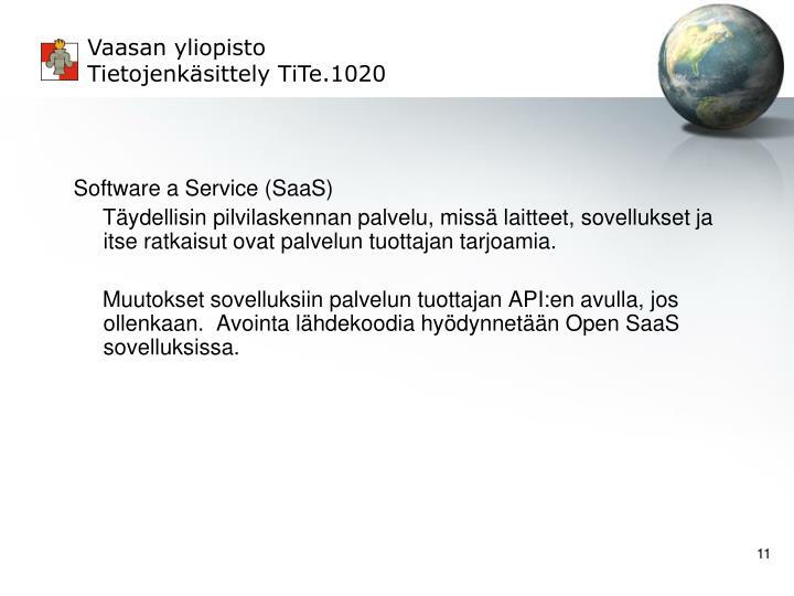 Software a Service (