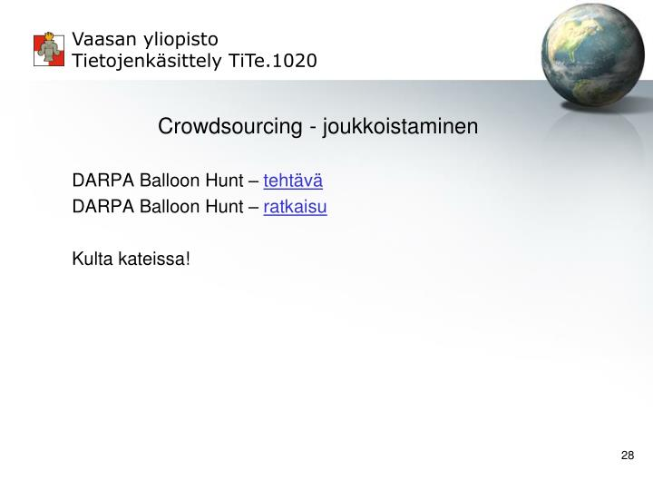 Crowdsourcing - joukkoistaminen