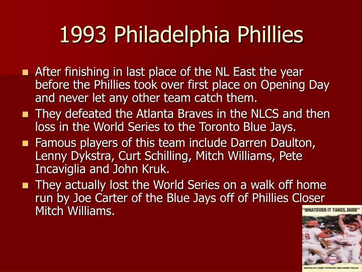 1993 Philadelphia Phillies