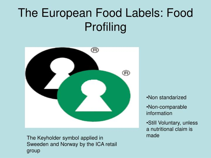 The European Food Labels: Food Profiling