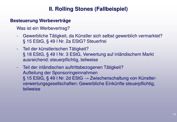 II. Rolling Stones (
