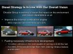 diesel strategy is in line with our overall vision