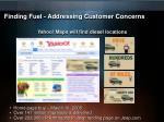 finding fuel addressing customer concerns