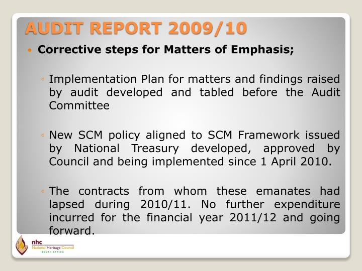 Corrective steps for Matters of Emphasis;