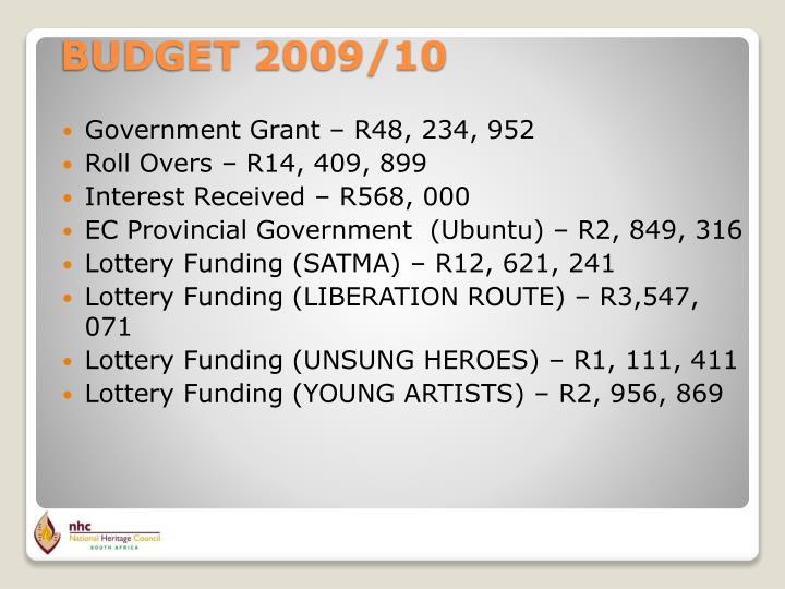 Government Grant – R48, 234, 952