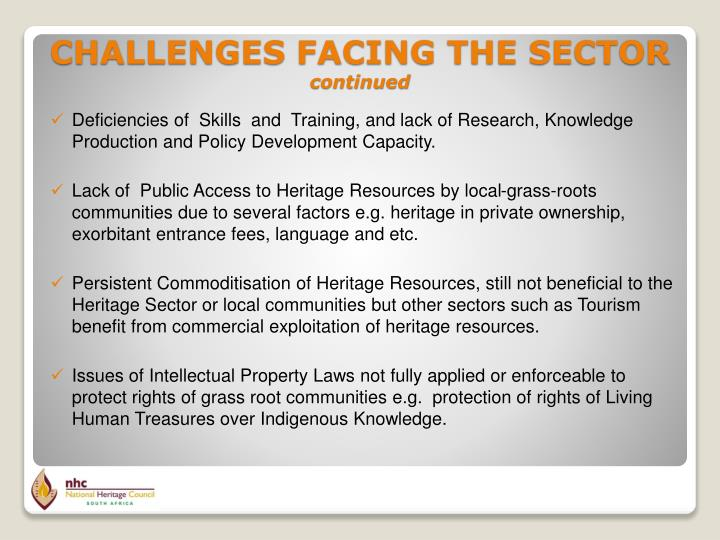 Deficiencies of  Skills  and  Training, and lack of Research, Knowledge Production and Policy Development Capacity.