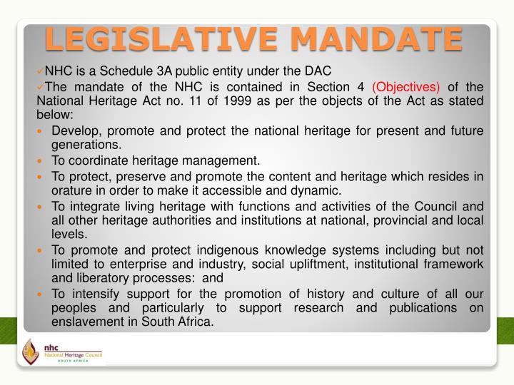 NHC is a Schedule 3A public entity under the DAC
