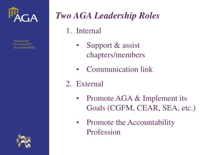 Two AGA Leadership Roles