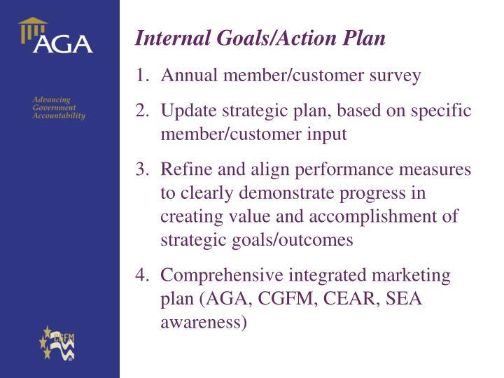 Internal Goals/Action Plan